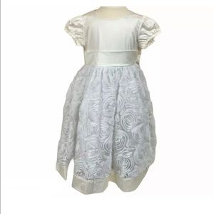 HANNA ANDERSSON NWT White Rosette Flower Dress